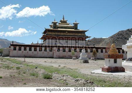 Tibetan Samye Monastery In The Suburb Of Lhasa, Tibet, China