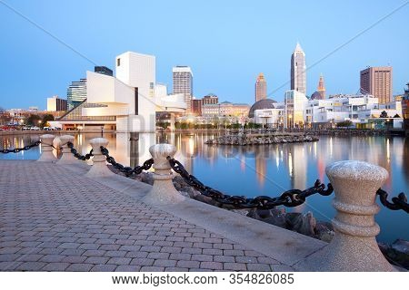 Cleveland, Ohio, United States - April 24: The Modern Building Of The Rock And Roll Hall Of Fame Mus