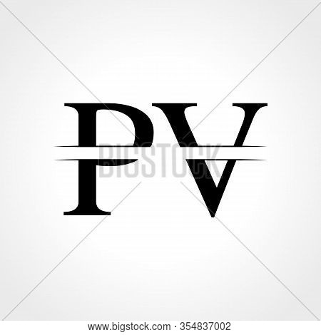 Initial Monogram Letter Pv Logo Design Vector Template. Abstract Pv Letter Logo Design