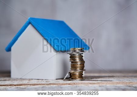 Buying Or Selling Property. Real Estate Investment. Mortgage Acquisition Or Rent House. Miniature Ho
