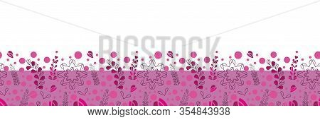 Lavender Flowers Border-love In Parise. Abstract Modern Lavender Flowers Seamless Repeat Pattern Bor
