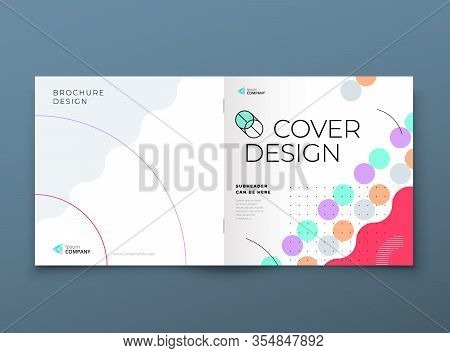 Square Brochure Template Layout Design. Corporate Business Annual Report, Catalog, Magazine, Flyer M