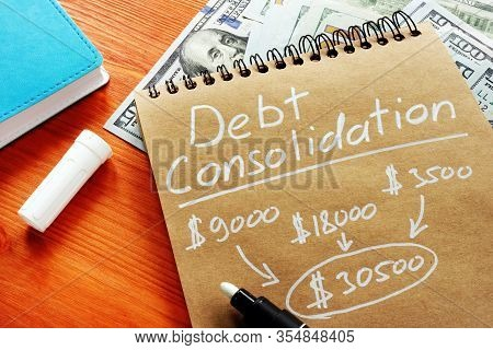 Debt Consolidation Title With Written Financial Calculations.