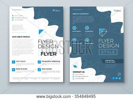 Flyer Template Layout Design. Corporate Business Annual Report, Catalog, Magazine, Flyer Mockup. Cre