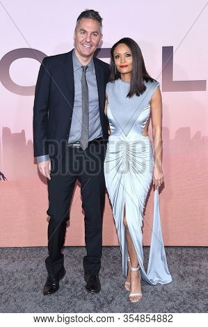 LOS ANGELES - MAR 05:  Ol Parker and Thandie Newton arrives for 'Westworld' Season 3 Premiere on March 05, 2020 in Hollywood, CA