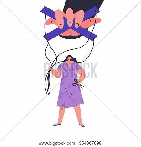 Happy Woman Stop Being Manipulated And Abused.manipulation Hand.unhealthy Toxic Relationships Where