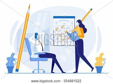 Poster Self-organization And Discipline, Cartoon. Learning And Understanding Your Current Time Manag
