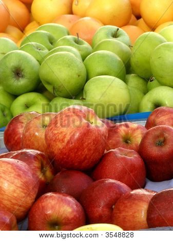 Fruit Apples Green Red