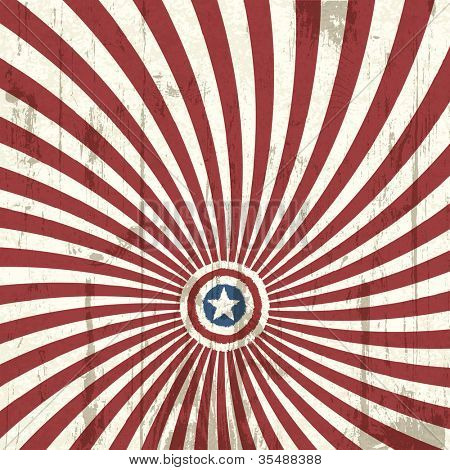 Abstract background with american flag elements. Raster version
