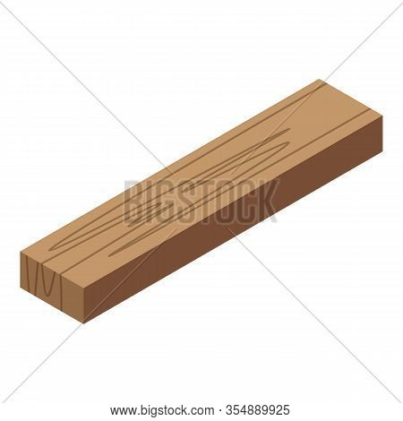 Wood Bar Icon. Isometric Of Wood Bar Vector Icon For Web Design Isolated On White Background