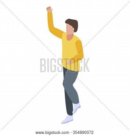Boy Entrepreneur Icon. Isometric Of Boy Entrepreneur Vector Icon For Web Design Isolated On White Ba