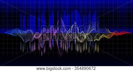 Music Abstract Equalizer Wave Background.  Sound  Color Lines Concept. Sound Wave Color Concept. Equ