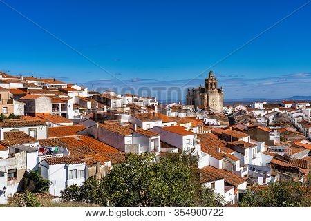 Church Of San Bartolome In Feria. Extremadura In Spain.