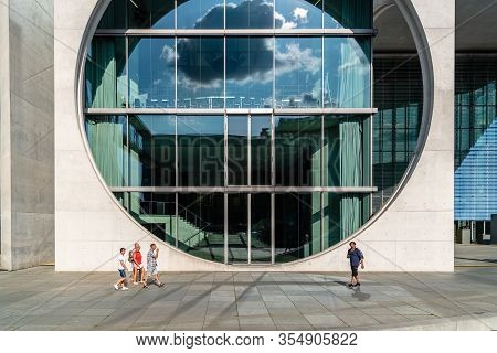 Berlin, Germany - July 27, 2019: Marie Elisabeth Luders House Modern Architecture Buildings Is A Gov