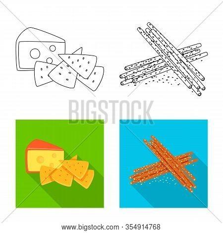 Vector Illustration Of Taste And Seasonin Sign. Set Of Taste And Organic Stock Vector Illustration.