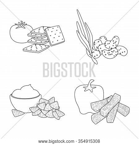 Vector Design Of Taste And Crunchy Icon. Set Of Taste And Cooking Stock Symbol For Web.