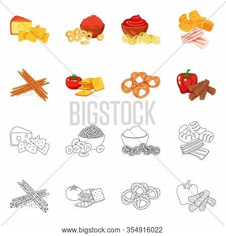 Vector Design Of Taste And Seasonin Sign. Collection Of Taste And Organic Stock Vector Illustration.
