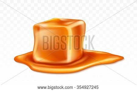 Caramel Candy And Caramel Sauce Isolated On Transparent Background