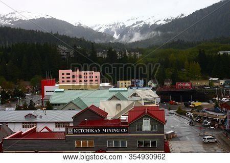 Ketchikan, Alaska - May 29, 2016: Ketchikan Is The Southeasternmost City In Alaska, With A Populatio