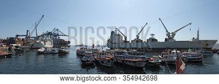Muelle Prat Pier In Valparaiso Harbor, Chile