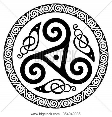 Ancient Round Celtic, Scandinavian Design. Celtic Knot, Mandala