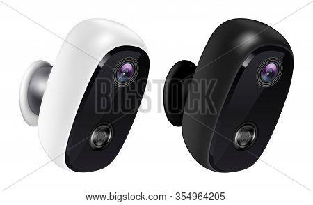 Realistic 3d Ip Cctv Camera, Security Surveillance