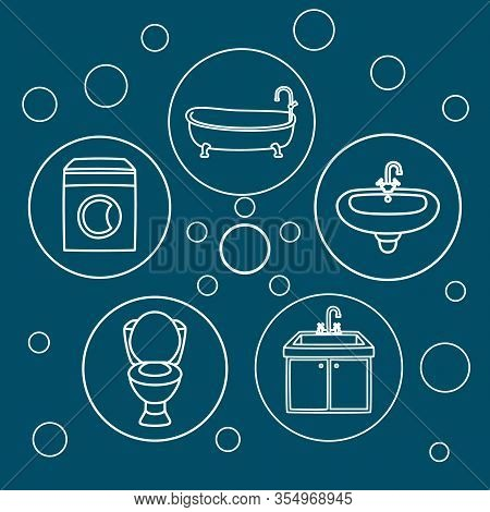 Plumbing Service Concept Vector Illustration. Emergency Professional Help At Home. Bathroom Bathtub