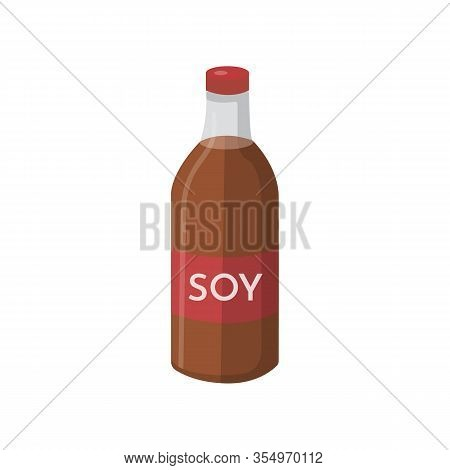 Vector Soya Product Sauce Isolated On White.