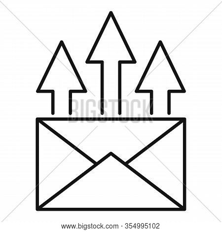 Send Seo Mail Icon. Outline Send Seo Mail Vector Icon For Web Design Isolated On White Background