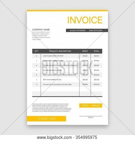 Business Card With Invoice. Customer Service Concept. Online Payment. Tax Payment. Invoice Template.