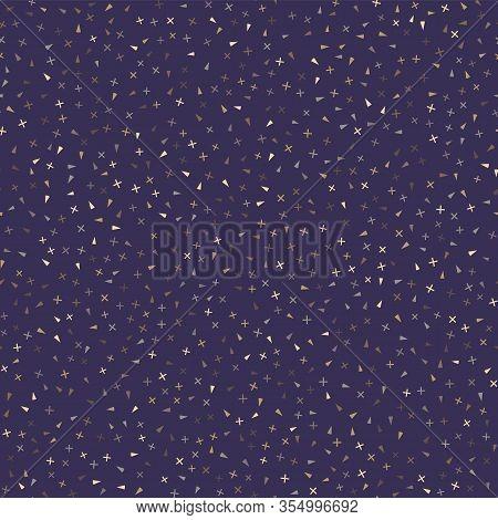 Classic Blue Starry Night Glow Specks Seamless Texture Pattern. Variegated Speckled Dark Background.