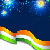Creative Indian Flag wave background. EPS 10. poster