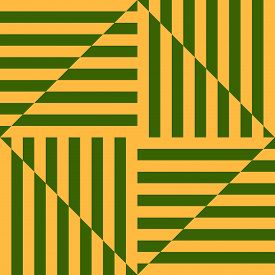 Modern Linear Geometric Seamless Pattern. Bright Summer Colors, Yellow And Green. Optical Art Orname