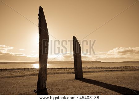 Standing Stones at sunset