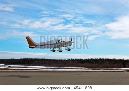 Small Plane Taking Off