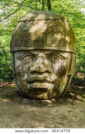 A replica of Olmec Head No 8