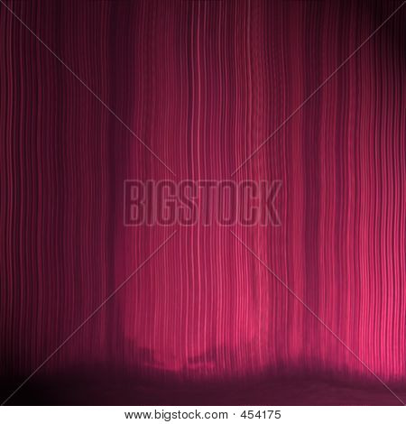 Theatre Curtain Texture With Subtle Footlight Effect