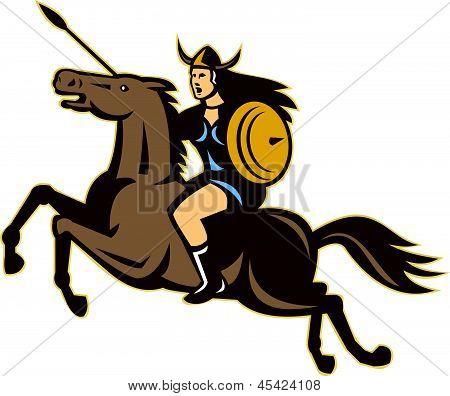 Valkyrie riding horse