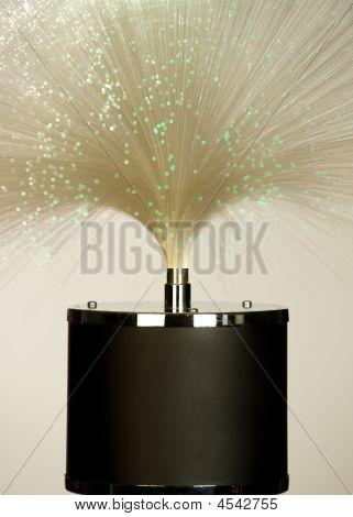 Fiber Glass Lamp White Green