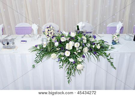 Table Decoration At Wedding Reception