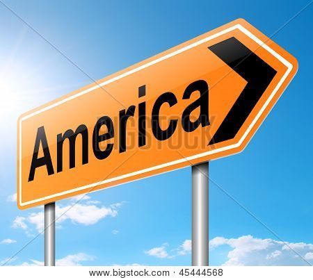 America Sign.
