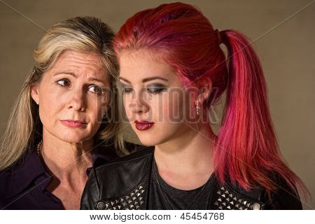Sad Mother And Daughter