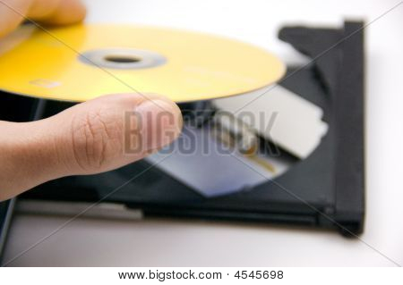Putting Dvd In The Player