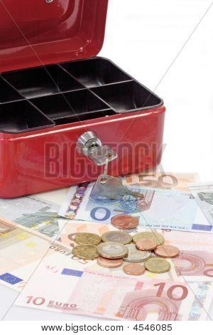 Open Lockbox And Money