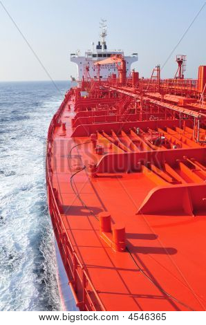 Tanker crude oil carrier ship designed for transporting natural gas sailing poster