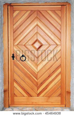 Wooden Door Made From Douglas Fir