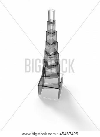 Gray Glass Pyramid
