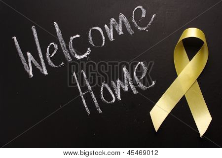 Welcome Home Yellow Ribbon