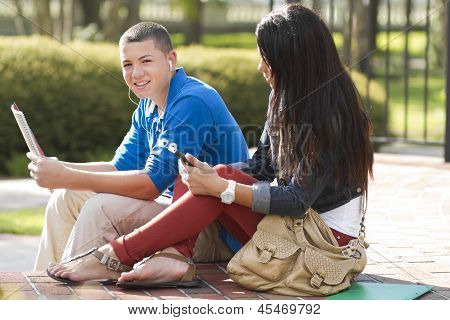 Students Hanging Out Together