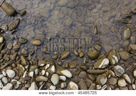 Wide Shore With Stones